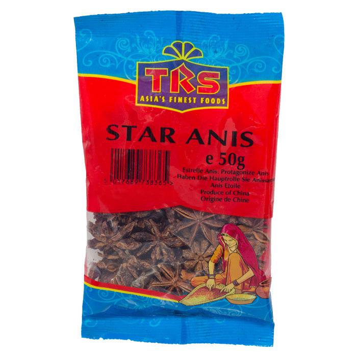 TRS - Stern Anis - ganz- 50 g - bei asiafoodlan...