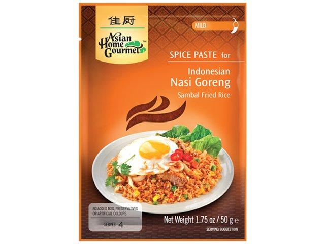 AHG - Würzpaste für Nasi Goreng - indonesisches Reisgericht - ohne Zusätze - natürlicher Genuss - 50 g - bei asiafoodland.de