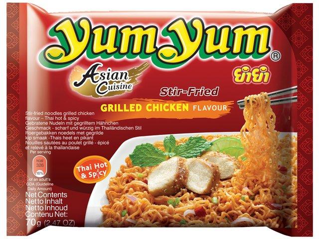 Instant Nudeln mit Grilled Chicken Geschmack - yumyum 70g - bei asiafoodland.de