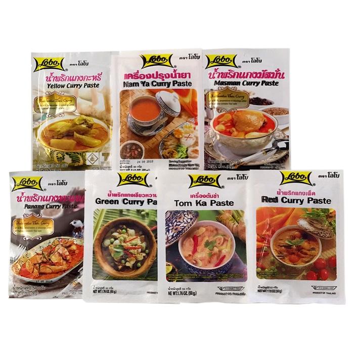 Asiafoodland - Lobo Curry Spar Set - 7 Sorten -...