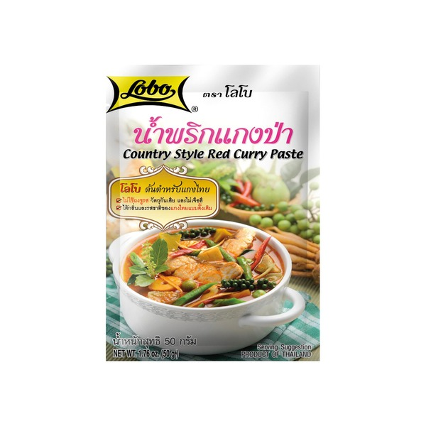 Lobo - Paste für rotes Curry (Country Style) - 50g - bei asiafoodland.de