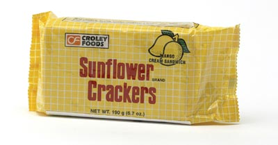 Sandwich-Cracker mit Mangocremefüllung - Croley...