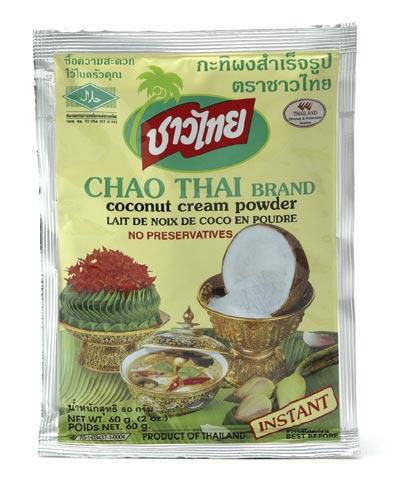 Kokosnusscremepulver -- Chao Thai 60g - bei asiafoodland.de