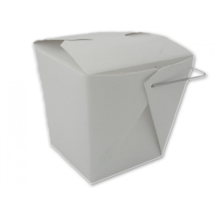 Take Out Box - Fold Pak Box - weiß mit Bügel - ...