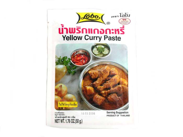 Yellow Curry Paste - thailändische gelbe Curry ...