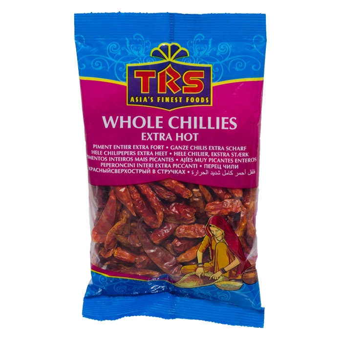 TRS - Whole Chillies Extra Hot - Getrocknete Chilis - ganz - 50g