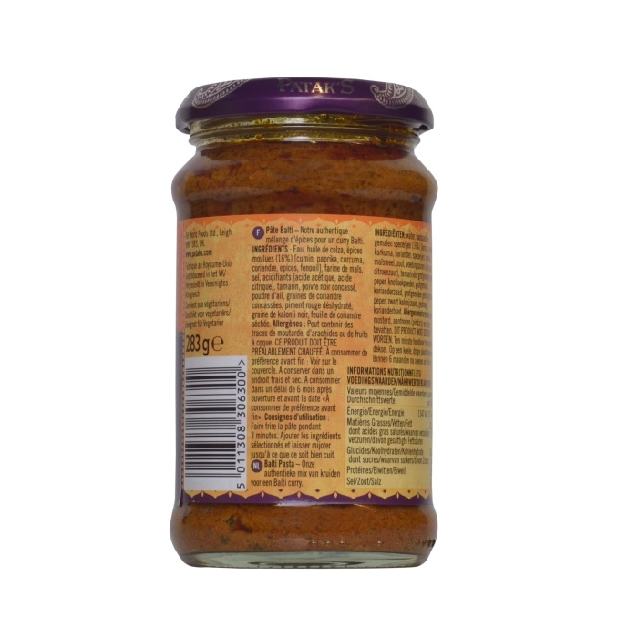 Patak's - Balti Paste - indische Curry Paste - 283g