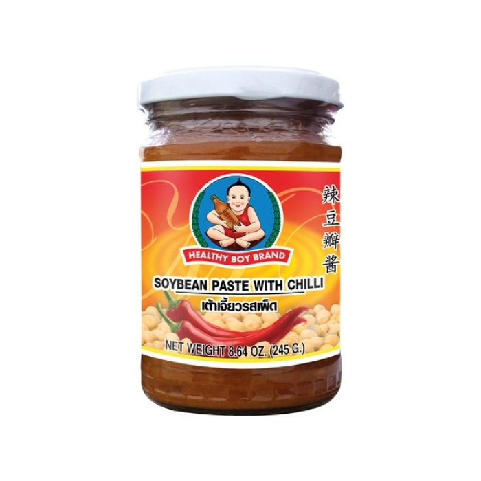 Healthy Boy - Sojapaste mit Chili - Sojabohnen Paste - 245 g