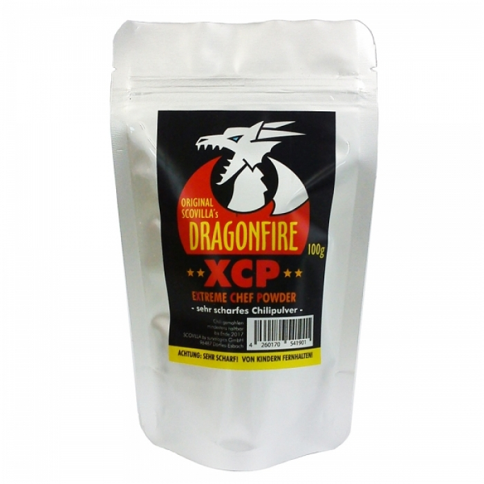 Dragonfire XCP Extreme Chef Powder - Extrem scharfes Chilipulver - 100g