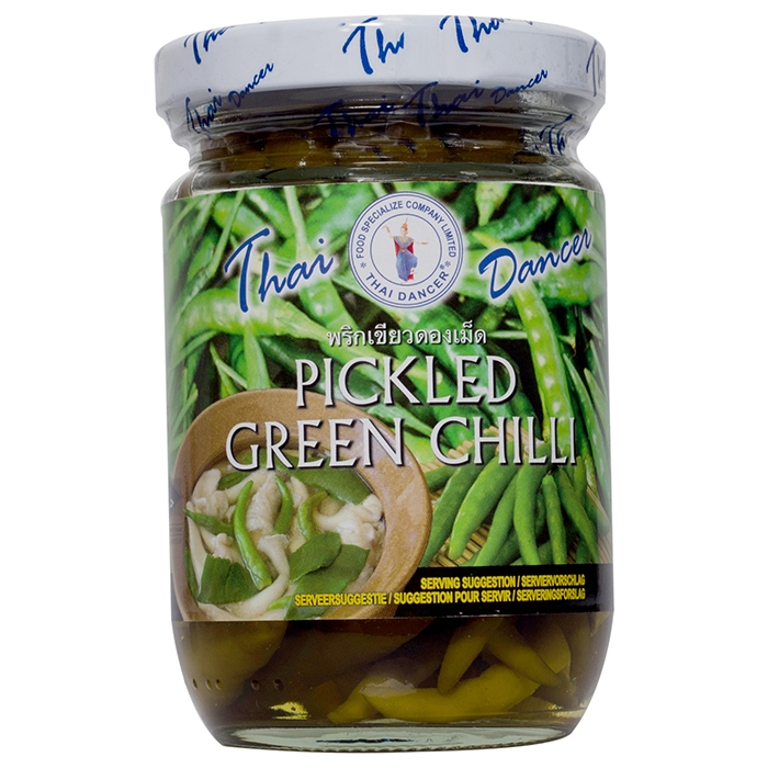 Thaidancer - Pickled green chilli - grüne Thai Chili - 100g