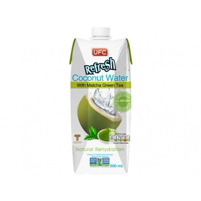 Kokoswasser - Green Tea - Matcha - 500 ml
