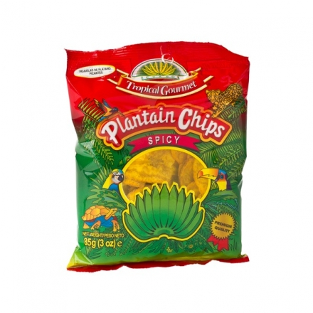Tropical Gourmet - Plantain Chips / Kochbananen Spicy - 85 g