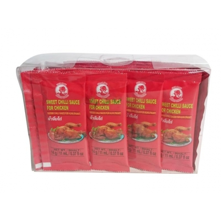 Süße Chili Sauce für Huhn - Sweet Chili Sauce for chicken Cock Brand - 630g (45x 14g/11ml)