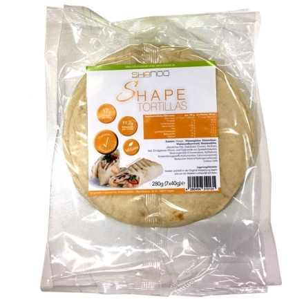 Shanoo - Shape Tortillas - Low Carb - 7 Stück - 280 g.