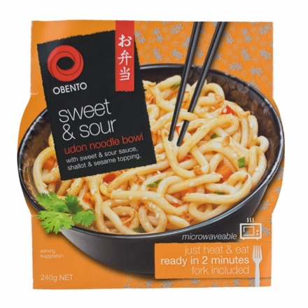 Udon Noodle Bowl - Sweet & Sour Style - Obento 240g