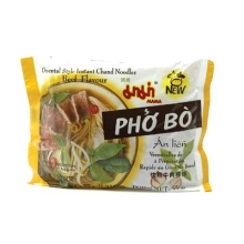 Mama - Reisbandnudeln - Rindfleisch Aroma - Instant Nudelsuppe - Pho Bo - 55g