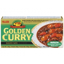 S&B - Golden Curry - Japanische Curry Paste - Saucen Basis - Mittelscharf - 100g