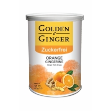 Sunny Ville - Golden Ginger - Zuckerfrei - Ingwer Bonbon - Orange - 100 g