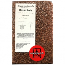 Asiafoodland - roter Reis - Red Rice - 1kg