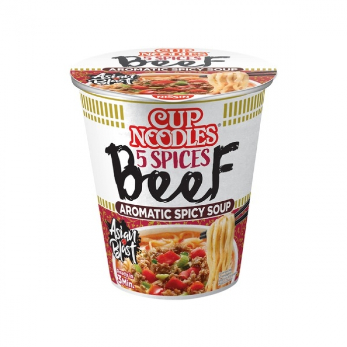 Nissin - Cup Nudeln - Cup Noodles - japanische Nudelsuppe - Rind - 64 g