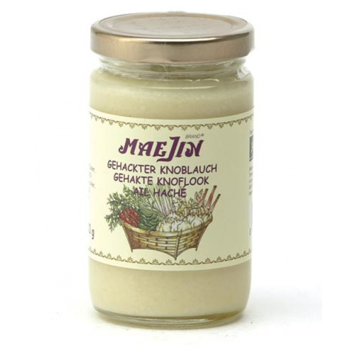 gehackter Knoblauch (Knoblauch Paste) 210g - Maejin