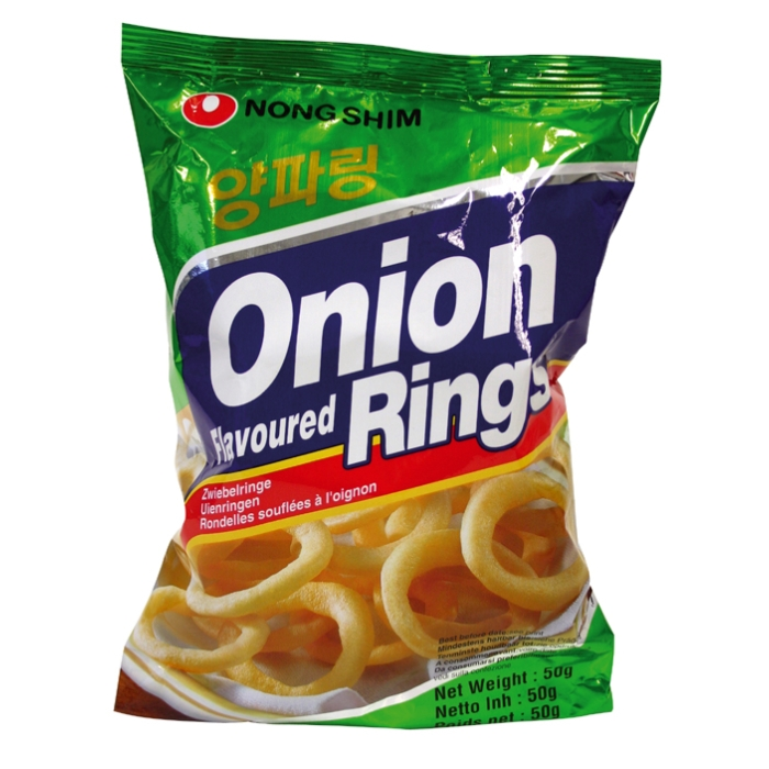 Onion flavoureD Rings - Zwiebelringe Chips - Nongshim 50g