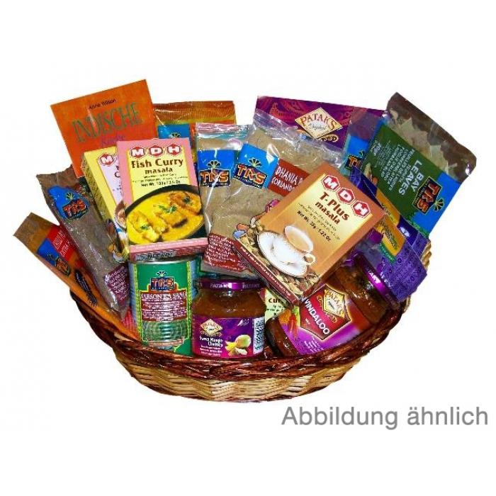 Indisches Basic Geschenkpaket (Präsentkorb) - mit Korb