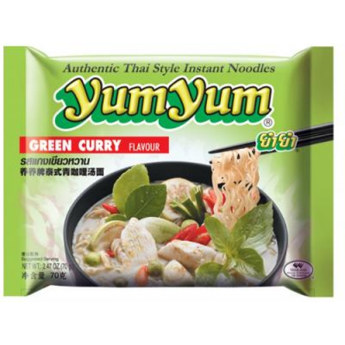 Instant Nudeln mit GREEN CURRY Geschmack - Big - 70g