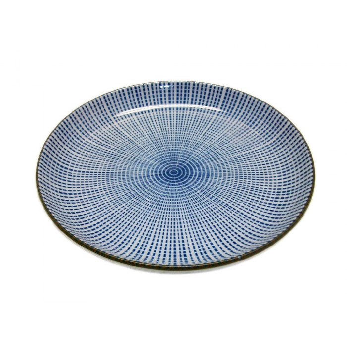 teller porzellan wei blau punktmuster blau 15 cm dia auf. Black Bedroom Furniture Sets. Home Design Ideas