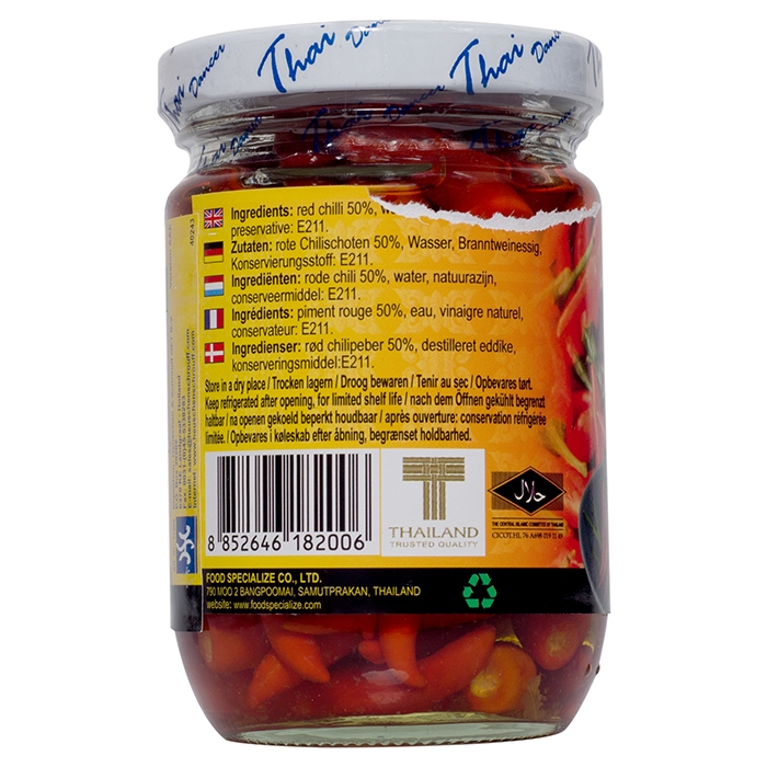 Thaidancer - Pickled red chilli - rote Thai Chili - 100g