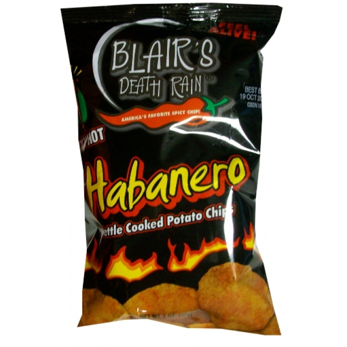 Blair's Death Rain Habanero Chips 142g - Stufe 9