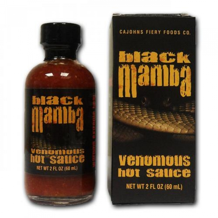 CaJohns Black Mamba Hot Sauce 60ml