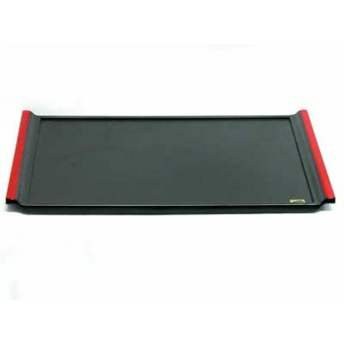 tablett schwarz mit rotem griff. Black Bedroom Furniture Sets. Home Design Ideas
