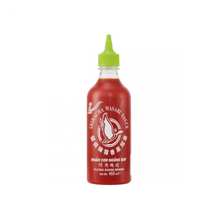 Flying Goose - Sriracha Chilisauce mit Wasabi - 455 ml