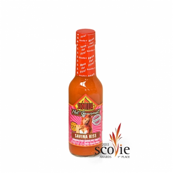 Scovilla - Hot Gourmet Savina Kiss - Exquisite Red Savina Hot Sauce - 148ml