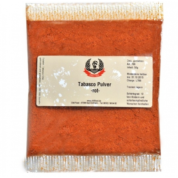 Tabasco Pulver -rot- 50g