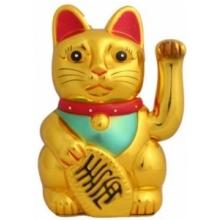 Glückskatze - Maneki Neko Winkekatze Gold 30cm